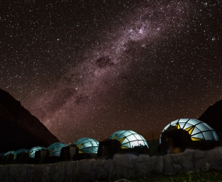 Glass Igloo Sky Camp on our Salkantay Trek