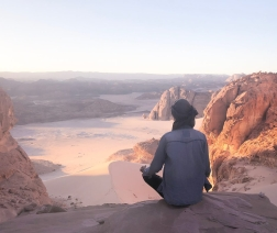 Meditating in the Sinai Photo by Bentinho Massaro
