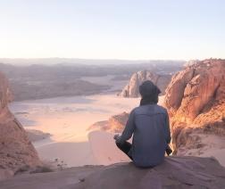 Meditating in the Sinai Photo by Bentinho Massaro