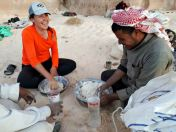 Bedouins making fun of my bread-making